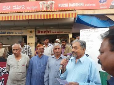 K T Shivaprasad addressing the Crowd